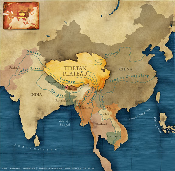 Tíbet, Nepal, Sikkim, Buthan, India