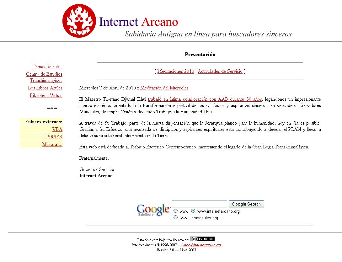 Internet Arcano 5.0 (2007–2009)